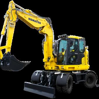 Komatsu | Excavators | Wheeled Midi Excavators - WAC McCandless
